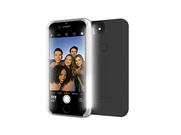 LuMee Two - Selfiedeksel, Matte Black (Iphone 6/6s/7)