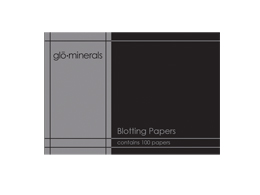glo-minerals Blotting Papers, 100 stk
