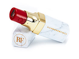 Richmond & Finch - Lipstick Powerbank, White Marble