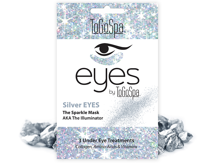 ToGoSpa - Silver Eyes - The Sparkle Mask, 3 pk big image 0