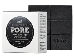 Klairs Pore - Gentle Black Sugar Charcoal Soap, 120ml