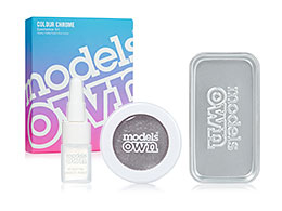 Models Own Colour Chrome Eyeshadow Kit, Silver Steel CCK07