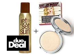 Duo-deal - Jet Set Sun - Self Tanning Mist & theBalm Mary-Lou Manizer