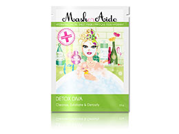 MaskerAide Hydrating Facial Sheet Mask, Detox Diva
