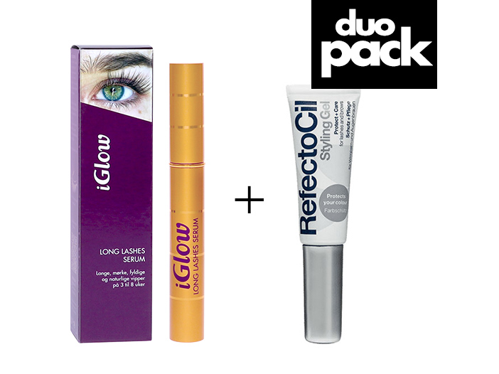 DUO-pakke - iGlow Vippeserum & RefectoCil Styling Gel big image 0