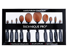 Technique Pro Makeup Brush Collection, 10 koster