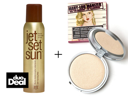 Duo-deal - Jet Set Sun - Self Tanning Mist & theBalm Mary-Lou Manizer middle image 0