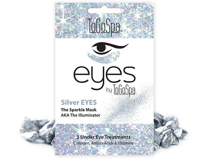 ToGoSpa - Silver Eyes - The Sparkle Mask, 3 pk middle image 0