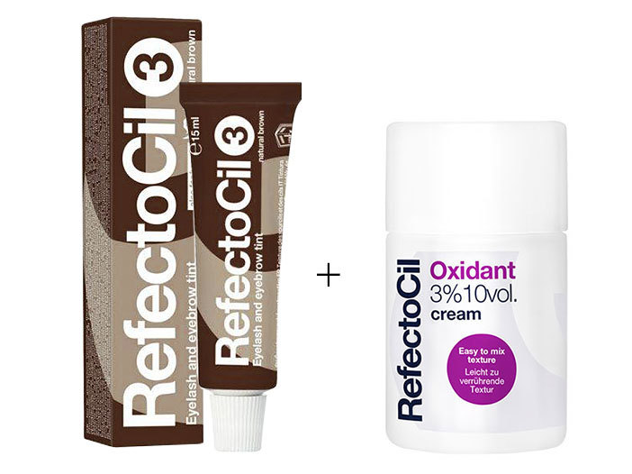 RefectoCil brynfarge No3(natural brown) & Oxidant Cream 3% middle image 0