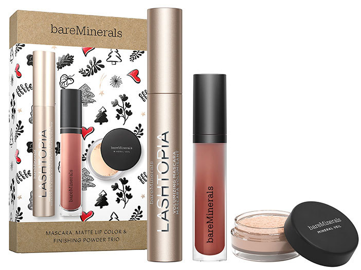 bareMinerals Mascara, Matte Lip Color & Finishing Powder Trio middle image 0