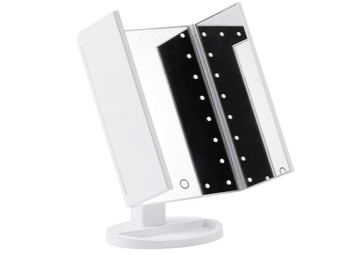 Browgame - Makeup Mirror, Tri Folded LED Light middle image 0