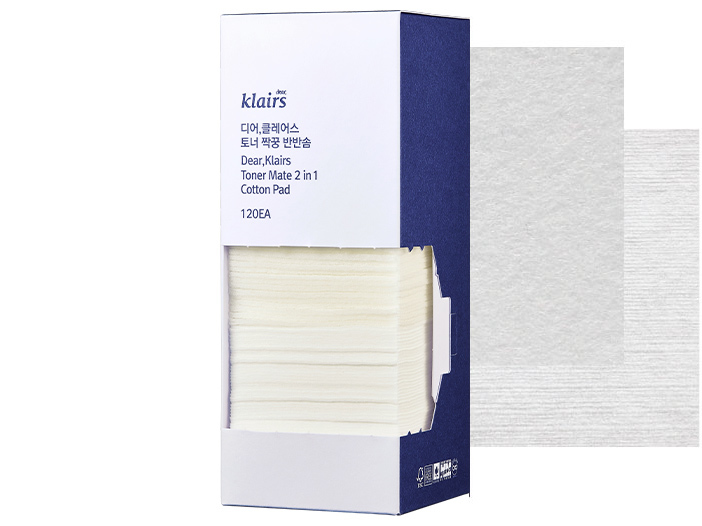 Klairs - Toner Mate 2-in-1 Cotton Pad, 120stk middle image 0