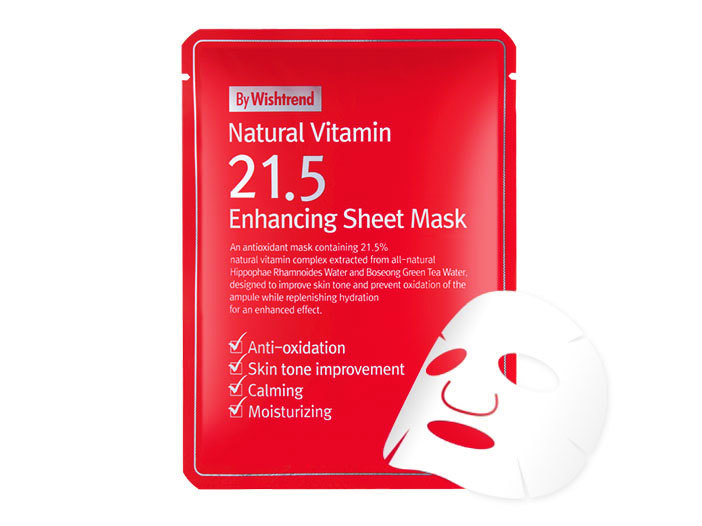 By Wishtrend - Natural Vitamin 21.5 Enhancing Sheet Mask middle image 0