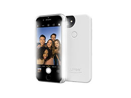 LuMee Two - Selfiedeksel, Glossy White (Iphone 6/6s/7)