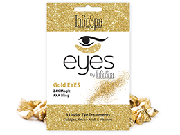 ToGoSpa - Gold Eyes - 24K Magic Mask, 3 pk